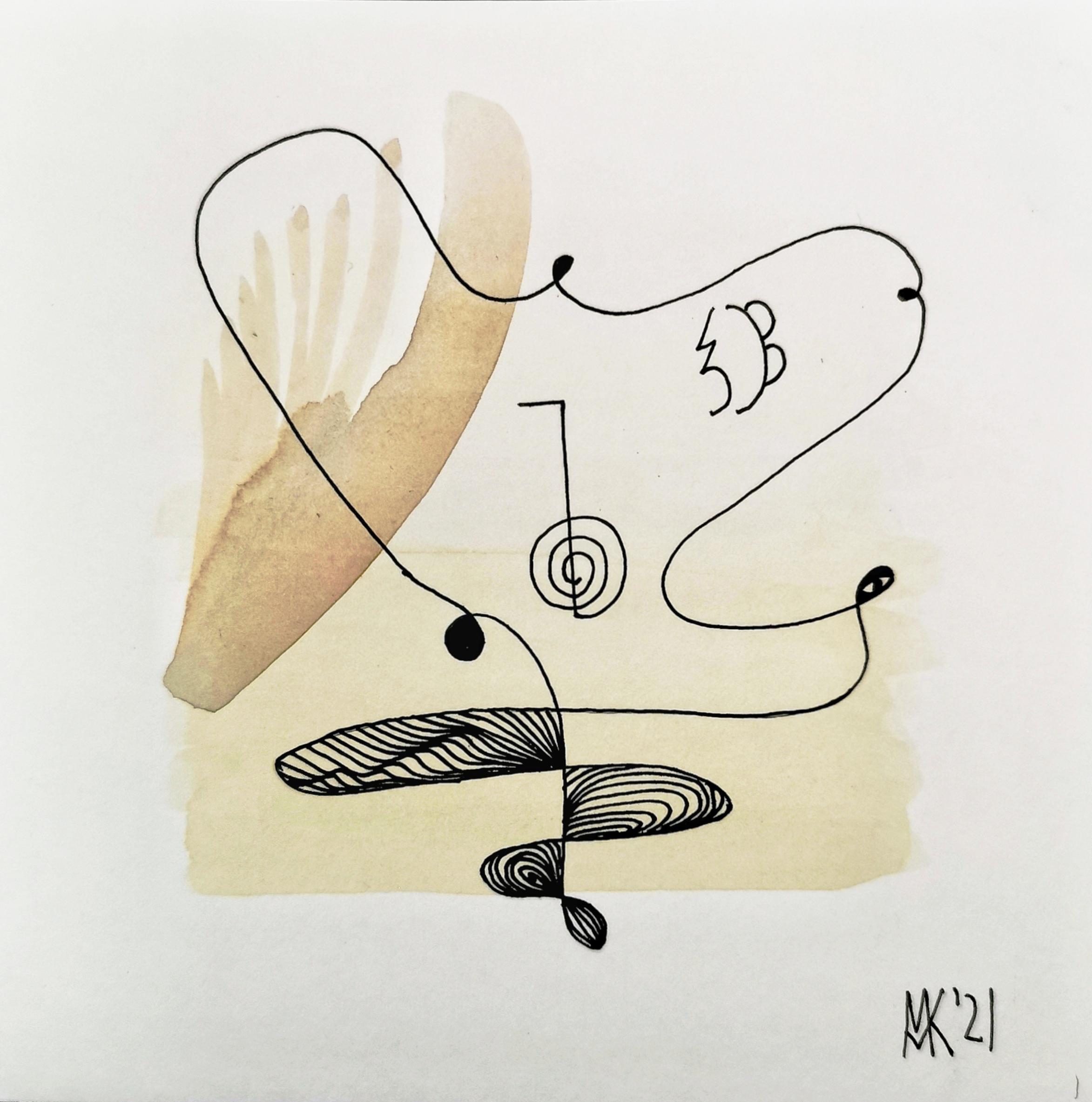 zeitgenössische abstrakte Aquarelle Tusche