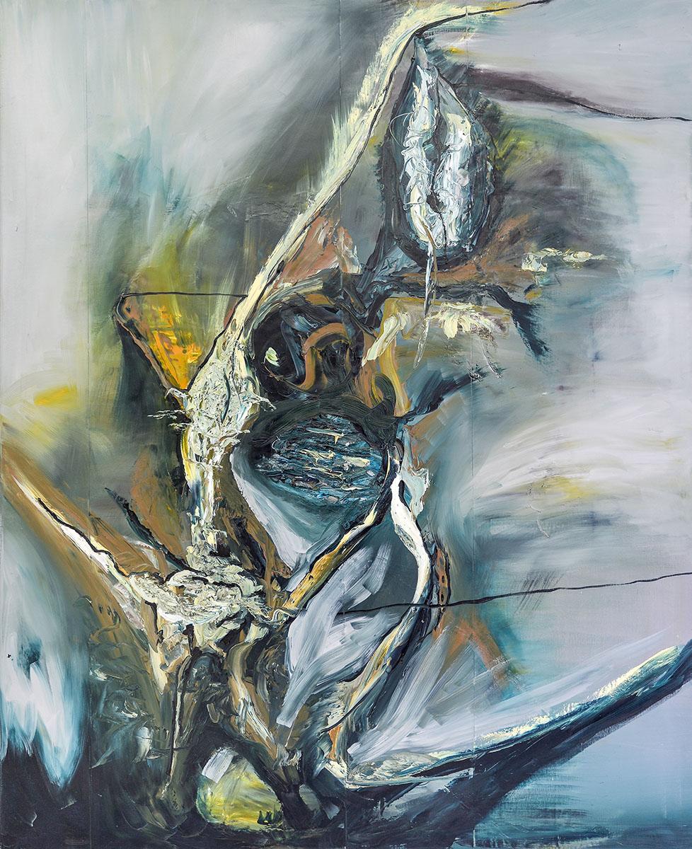 130 x 160 Oil on canvas Oilpainting abstract contemporary- 2007 Marcela Margret Kamans Kozlik Kunst