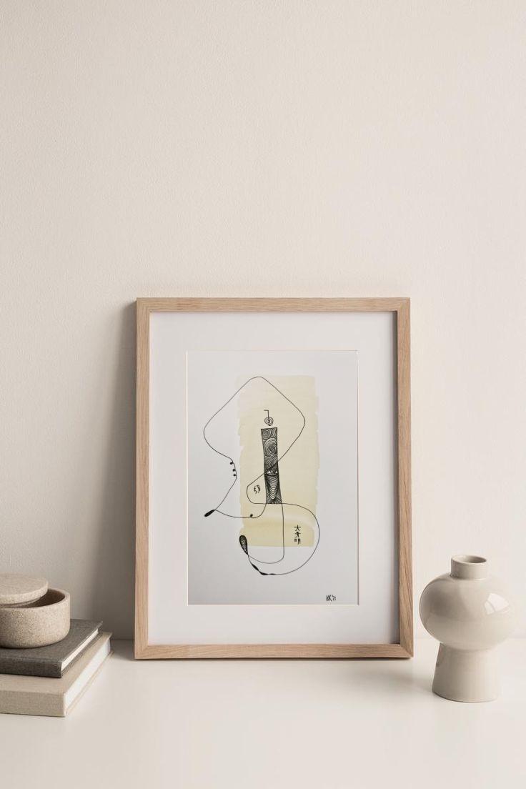 Aquarell und Tuche auf Hahnemühle Papier, abstrakt zeitgenössisch