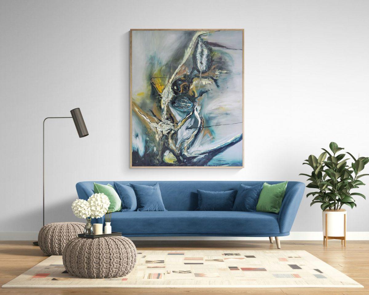 130 x 160 Öl auf Leinwand zeitgenössisch abstrakt Oilpainting abstract contemporary- 2007 Marcela Margret Kamans Kozlik Kunst (2)