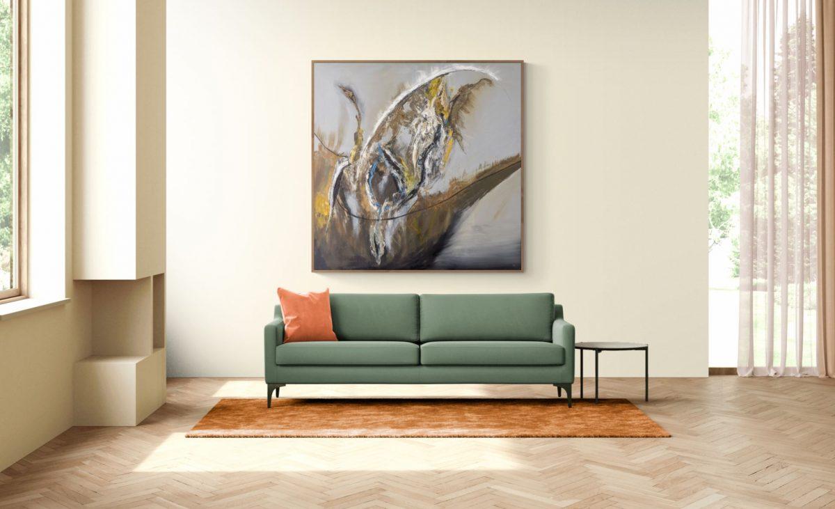 Ölgemälde 160 x 160 Abstrakt zeitgenössisch Art for Sale by Artist 2006 Marcela Kamanis