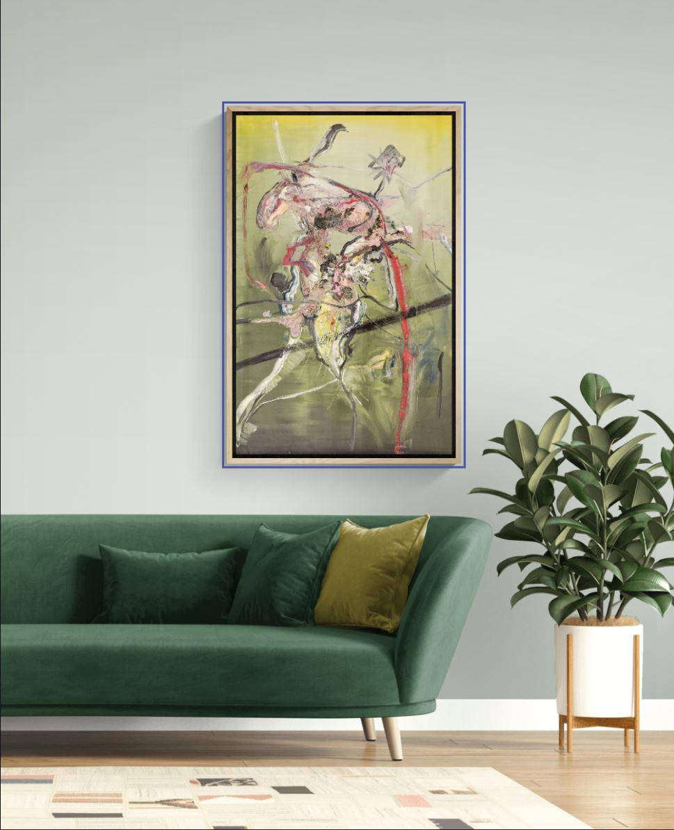 70 x110 Oil on canvas Oilpainting abstract contemporary- 2006 Marcela Margret Kamans Kozlik Kunst green