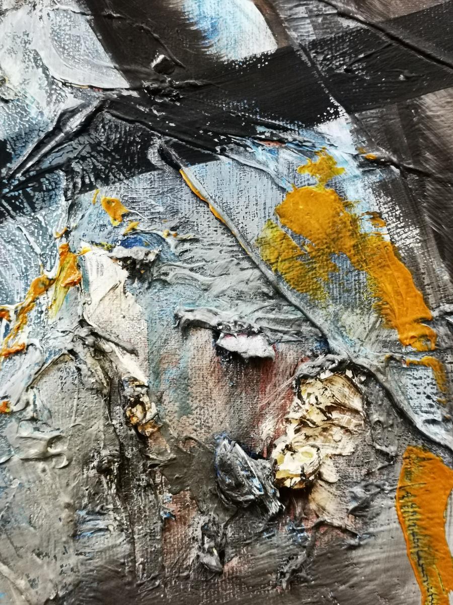 Detail 90 x110 Oil on canvas Oilpainting abstract contemporary-2010 Marcela Margret Kamans Kozlik Kunst