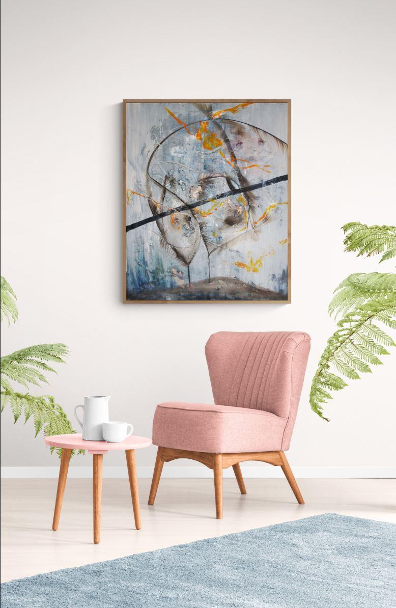 90 x110 Oil on canvas Oilpainting abstract contemporary-2010 Marcela Margret Kamans Kozlik Kunst